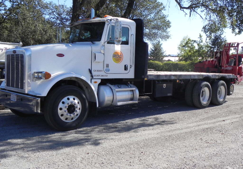 Forklift and Flatbed Delivery Truck for iROC Landscape Supply